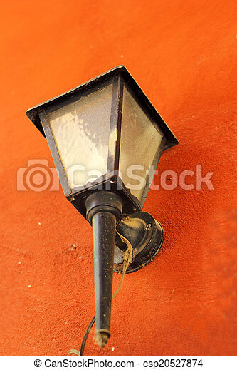 Vintage lamp on a wall - csp20527874