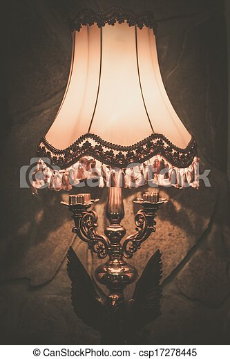 Vintage lamp on a wall - csp17278445