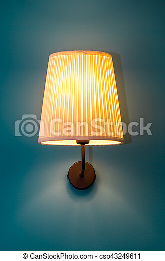 vintage lamp on the wall - csp43249611
