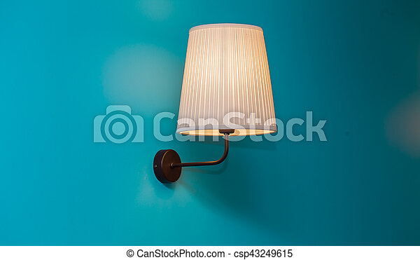 vintage lamp on the wall - csp43249615