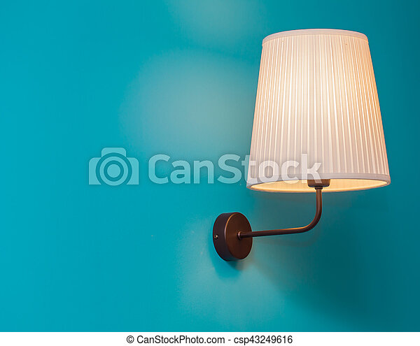 vintage lamp on the wall - csp43249616