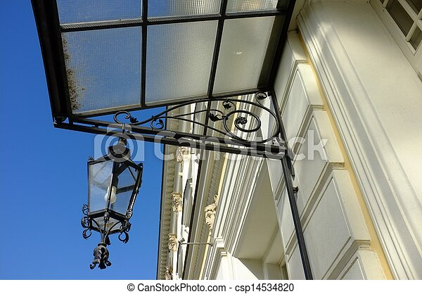 vintage lamp on the wall - csp14534820