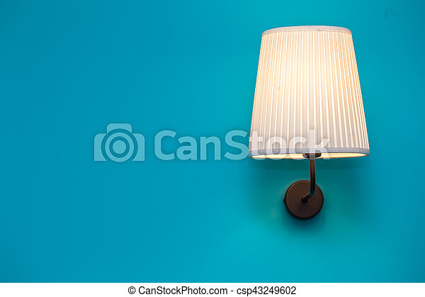 vintage lamp on the wall - csp43249602