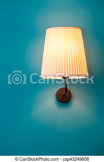 vintage lamp on the wall - csp43249608