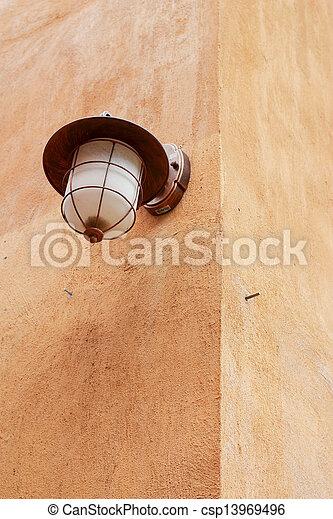 Vintage lamp. - csp13969496