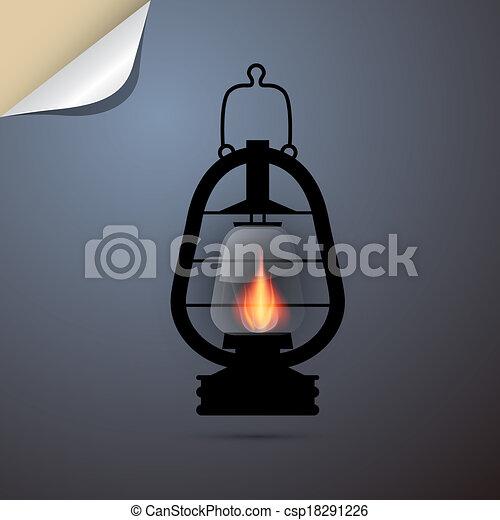 Vintage Lantern Gas Lamp