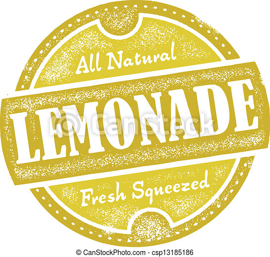 vintage lemonade sign distressed vector lemonade graphic