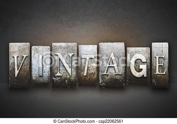 Vintage Letterpress - csp22062561