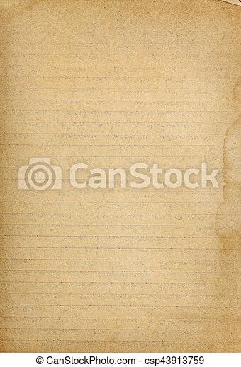 Vintage Lined Paper Textured Background With