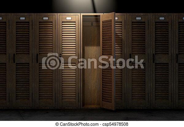 Vintage Locker And Open Door