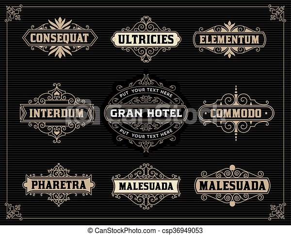 vintage logo templates vector illustration
