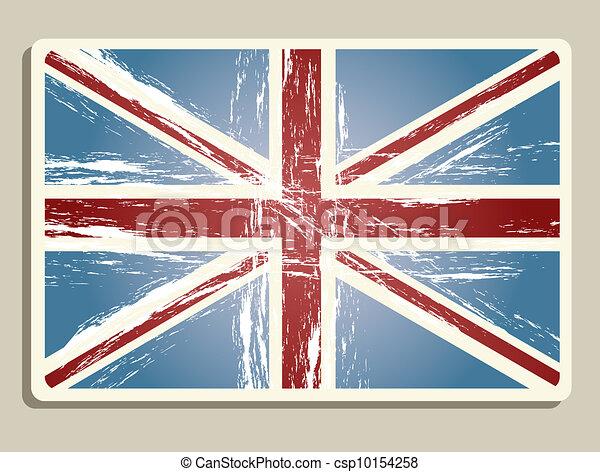 Vintage London Flag Illustration Vector
