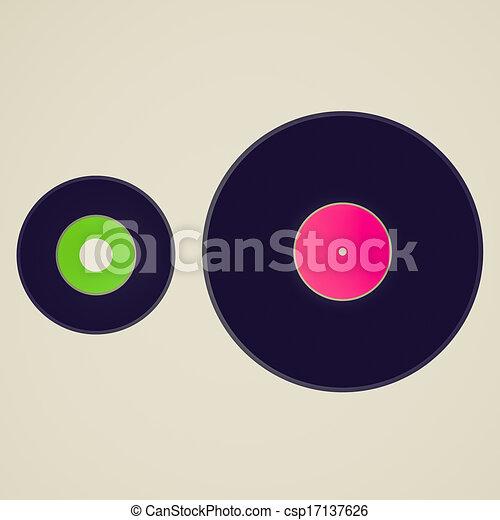 Vintage look Vinyl records - csp17137626