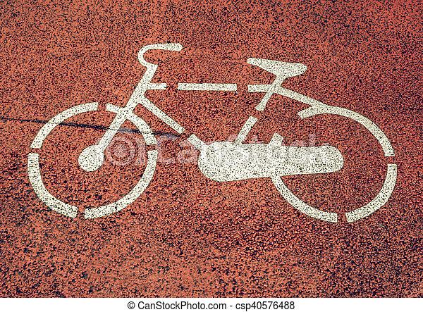 Vintage looking Bike sign - csp40576488