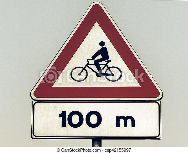 Vintage looking Bike sign - csp42155997