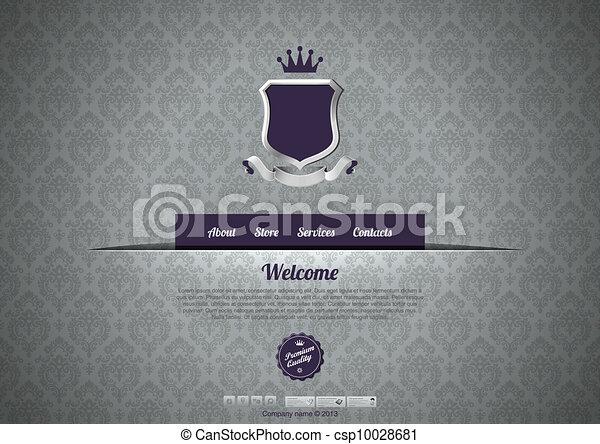 Vintage luxury design template. Classic style design. website ...