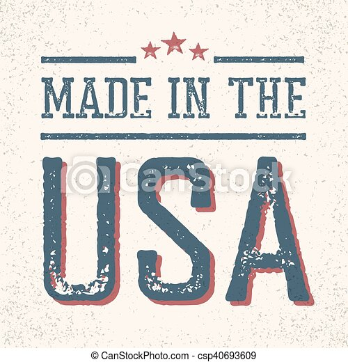 Vintage Made in the USA Stamp - csp40693609