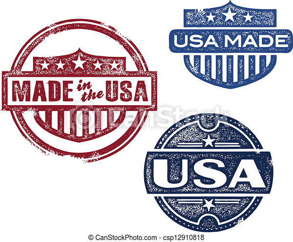 Vintage Made in USA Stamps - csp12910818
