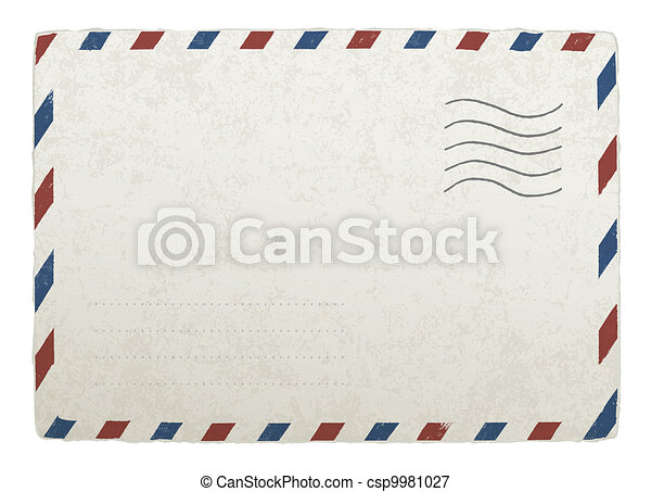 Vintage mailing envelope. Vector template for your designs, EPS 10. - csp9981027