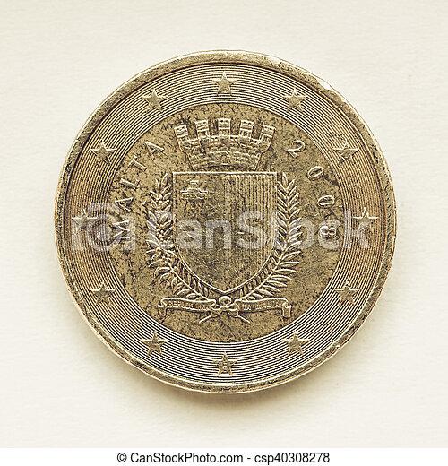 Vintage Maltese Euro coin - csp40308278