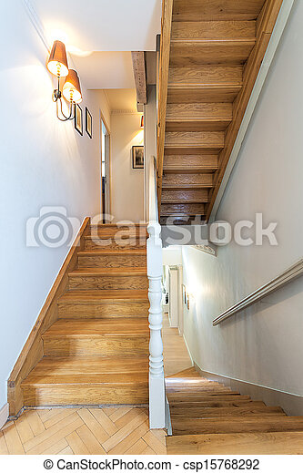 Vintage Mansion   Staircase   Csp15768292