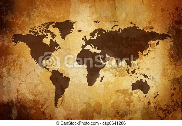 vintage map  - csp0641206