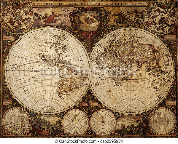 vintage map - csp2395934