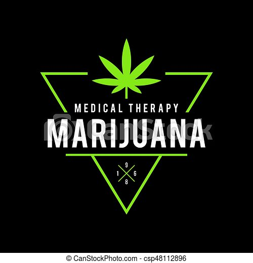 Vintage Marijuana Label Design Cannabis Health And Medical Therapy