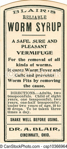 Vintage Medicine Label