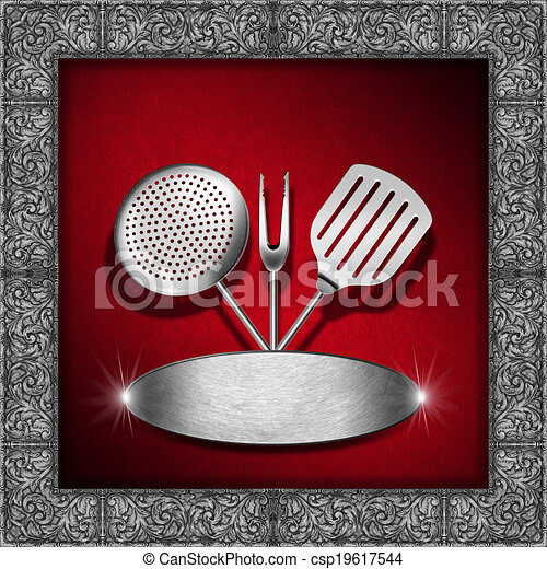 vintage menu template red and silver red velvet background with