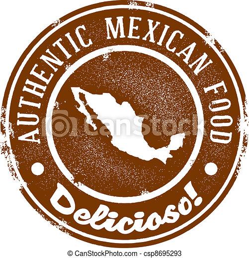 Vintage Mexican Food Stamp - csp8695293