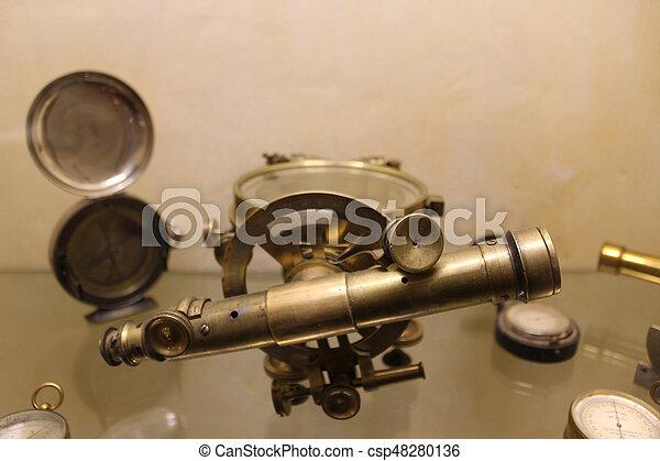vintage microscope - csp48280136