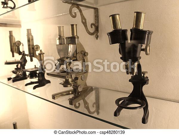 vintage microscope - csp48280139
