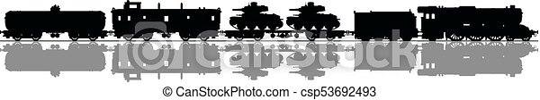 Vintage military steam train - csp53692493