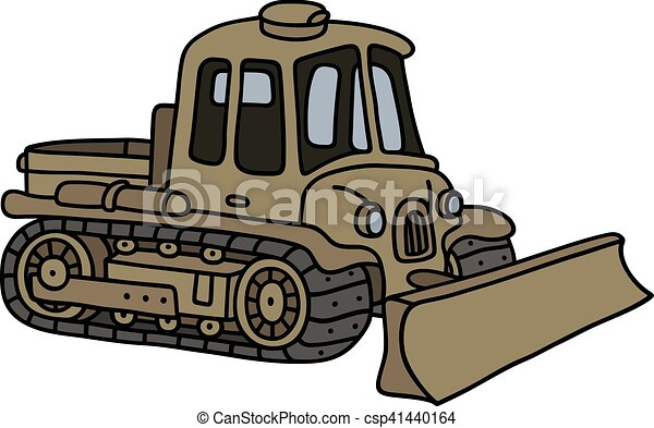vintage military tracked vehicle hand drawing of a funny clip rh canstockphoto com military equipment clipart