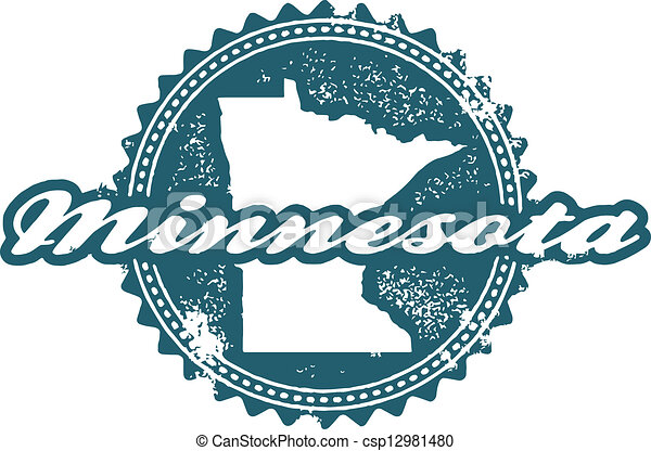 Vintage Minnesota Stamp Seal - csp12981480