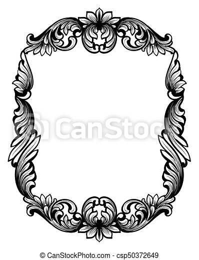 mirror frame drawing. Perfect Drawing Vintage Mirror Frame Vector Classic Frame Decor With Drawing E
