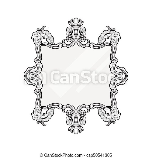 Vintage Mirror Frame Vector Collection Of Round And Square Frames Design Element