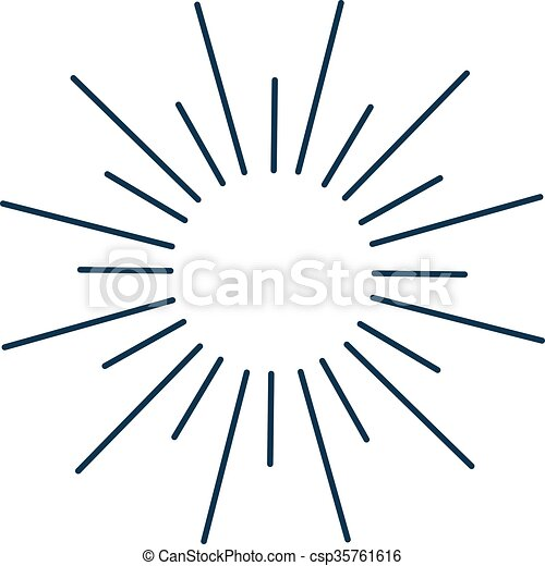 Vintage monochrome bursting rays sun lines illustration. . Sun lines ...