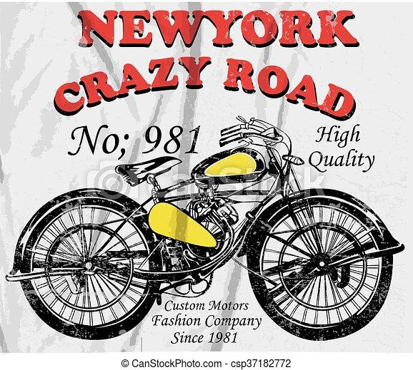 64d85e92e Vintage Motorcycle T-shirt Graphic Vintage Race - csp37182772