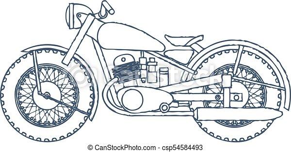 vintage motorcycle vector logo design template bikeshop or