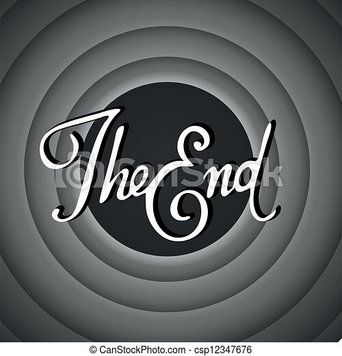 vintage movie ending screen rh canstockphoto com the end sign clip art the end clip art animation