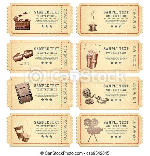 Vintage Movie Ticket - csp9542845