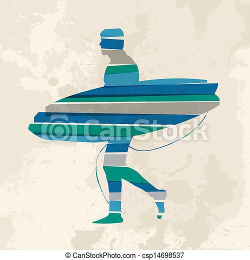 Vintage multicolor go surfing. Diversity colors ...