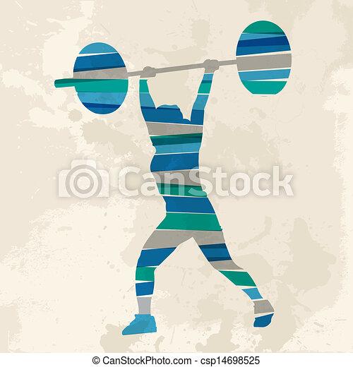 Vintage multicolor sport woman - csp14698525