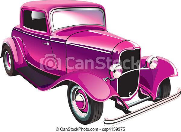 vintage muscle car - csp4159375