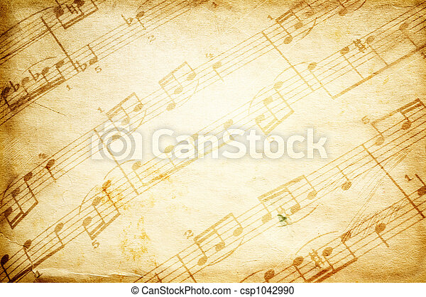 vintage music - csp1042990