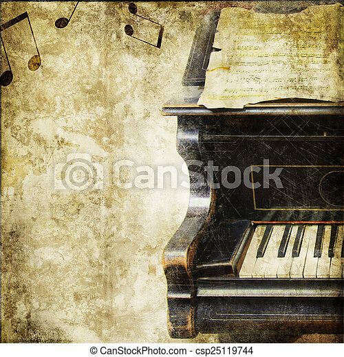vintage musical background - csp25119744