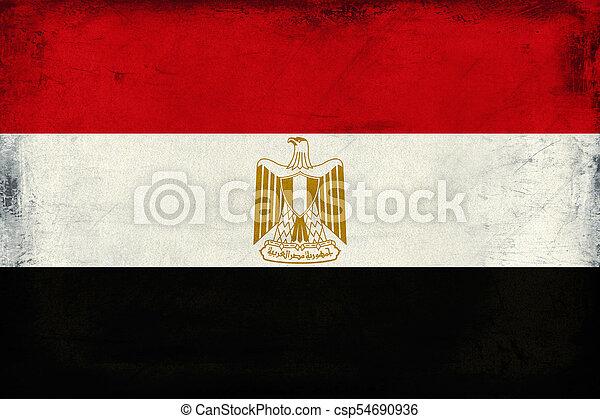 Vintage national flag of Egypt background - csp54690936