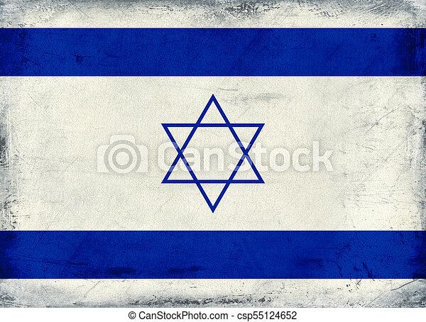 Vintage national flag of Israel background - csp55124652